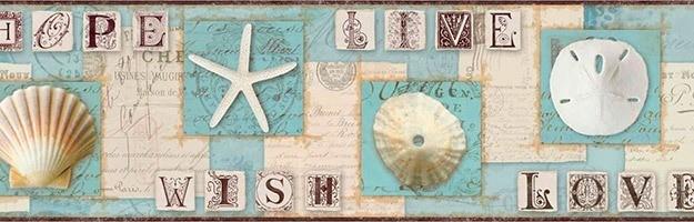 Wandtattoos: Bordüre mit marine-Motiven