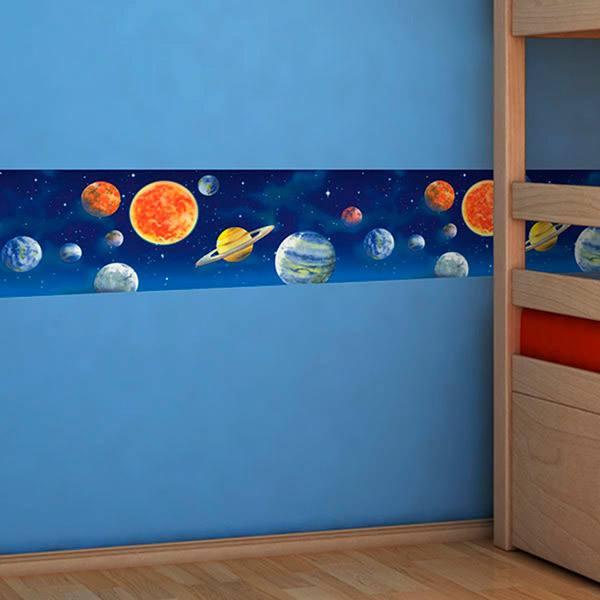 Wandtattoos Borduren Kinderzimmer Weltraum Webwandtattoo Com