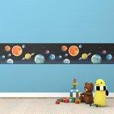 Kinderzimmer Wandtattoo: Bordüre Weltraum 1