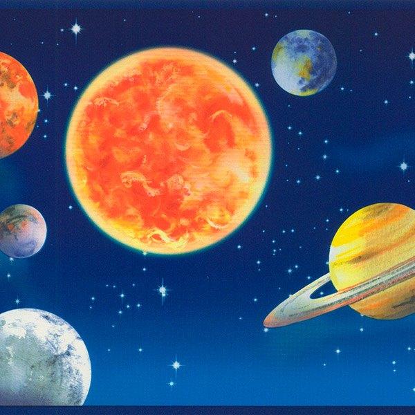 Kinderzimmer Wandtattoo: Bordüre Weltraum