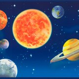 Kinderzimmer Wandtattoo: Bordüre Weltraum 2