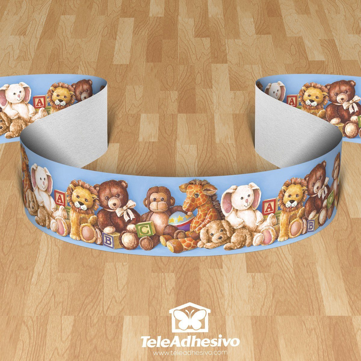 Kinderzimmer Wandtattoo: Bordüre Bären