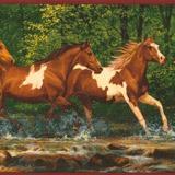 Wandtattoos: Bordüre Pferde 4