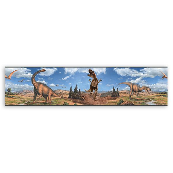 Kinderzimmer Wandtattoo: Bordüre Dinosaurs