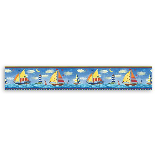 Wandtattoos: Bordüre Schifffahrt II