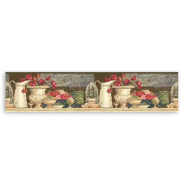 Wandtattoos:  Bordüre Blumen von Paris