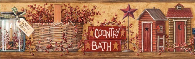Wandtattoos: Bordüre Country Bath