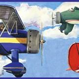 Kinderzimmer Wandtattoo: Bordüre Flugzeug 4