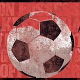 Kinderzimmer Wandtattoo:  Bordüre Fußball 2