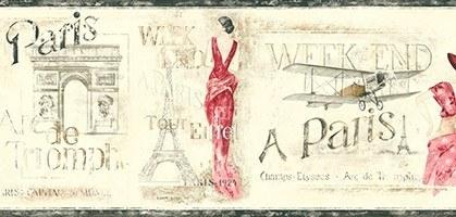 Wandtattoos: Bordüre Paris