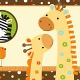 Kinderzimmer Wandtattoo: Bordüre Säugling Tiere  2
