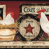Wandtattoos: Bordüre Eier und Hühner 4