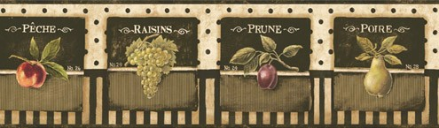 Wandtattoos: Bordüre Früchte 3