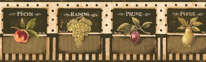Wandtattoos: Bordüre Früchte
