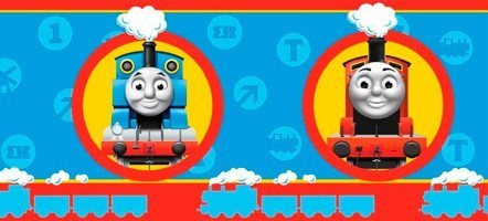 Kinderzimmer Wandtattoo: Bordüre Kind Lokomotive