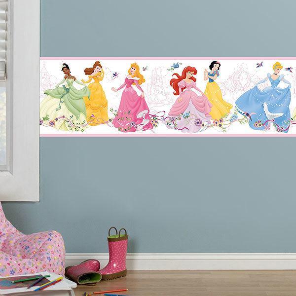 Bordüren kinderzimmer Disney Prinzessinnen tanzen ...