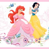 Kinderzimmer Wandtattoo: Bordüre Disney Prinzessinnen 2 4