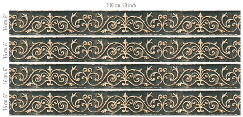 Wandtattoos: Bordüre klassischen Stil