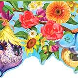 Wandtattoos: Bordüre Wildblumen 4