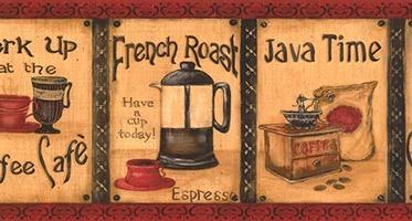 Wandtattoos: Bordüre Kaffee
