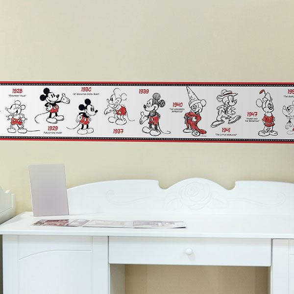 Kinderzimmer Wandtattoo: Bordüre Mickey Mouse