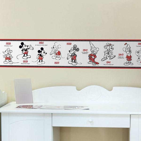 Bordüren kinderzimmer Mickey Mouse | WebWandtattoo.com