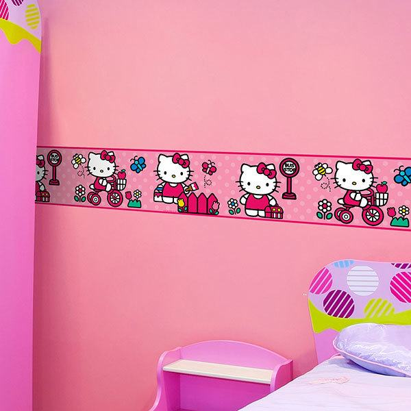 Kinderzimmer Wandtattoo: Bordüre Hello Kitty