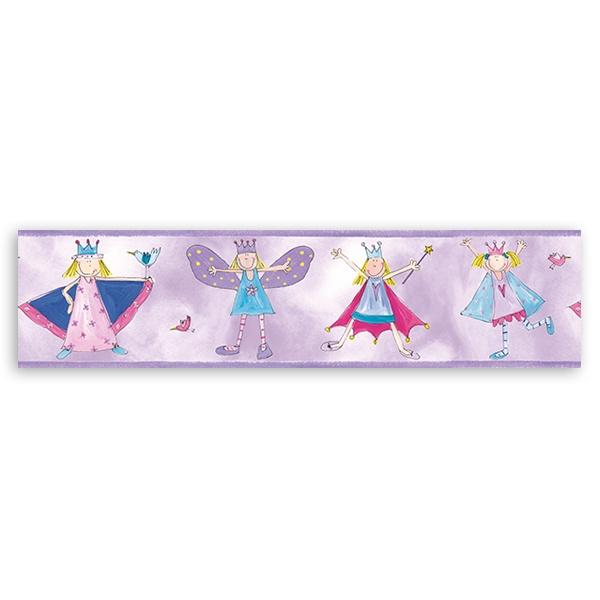 Wandtattoo Selbstklebende Bordure Kinderzimmer Kleine Prinzessin