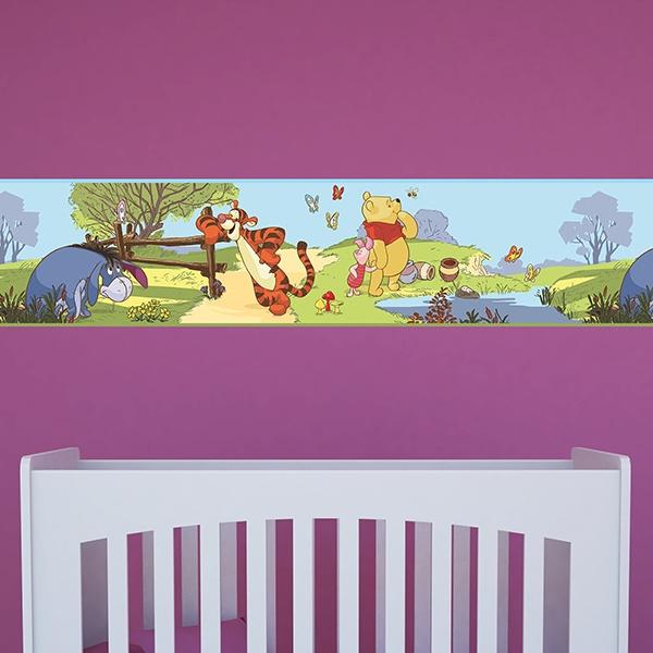 Bordüre selbstklebend kinderzimmer Winnie the Pooh ...