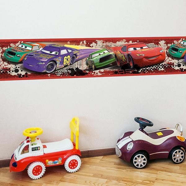 Selbstklebende bordüre kinderzimmer Cars Nascar ...