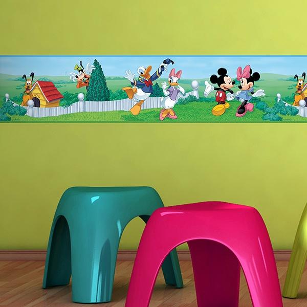 Wandtattoo bordüre Mickey und seine Freunde | WebWandtattoo.com