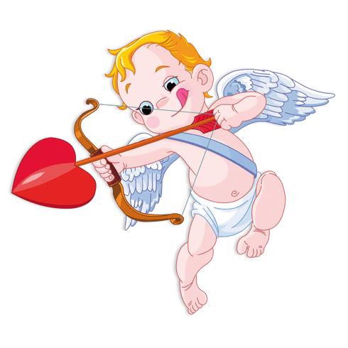 Kinderzimmer Wandtattoo: Baby Amor