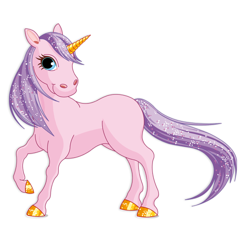 Kinderzimmer Wandtattoo: Rosa Pony Einhorn