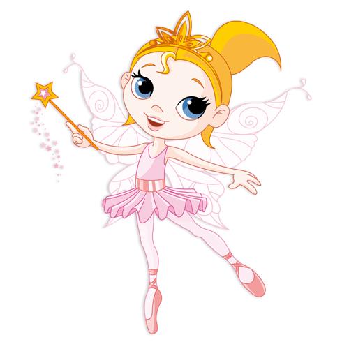 Kinderzimmer Wandtattoo: Fee Ballerina Rosa