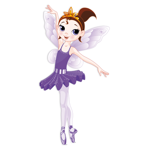 Kinderzimmer Wandtattoo: Fee Ballerina Violett