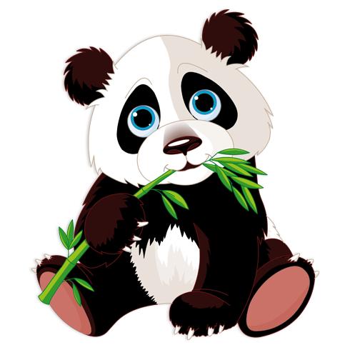 Kinderzimmer Wandtattoo: Bärenjungen Panda