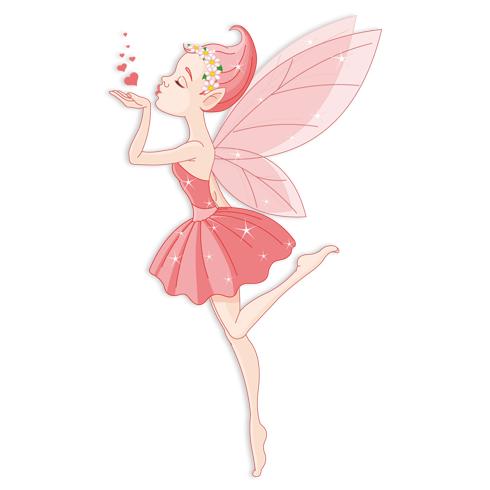 Kinderzimmer Wandtattoo: Ballerina-Fee Kuss