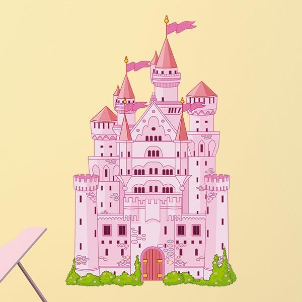 Kinderzimmer Wandtattoo Schloss Rosa