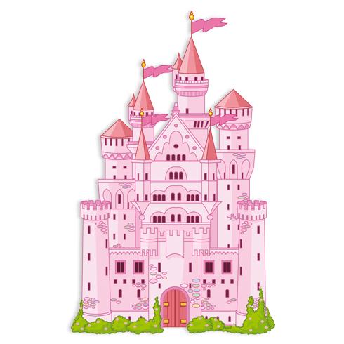 Kinderzimmer Wandtattoo: Schloss Rosa