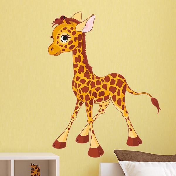 Wandtattoo Kinder Giraffe Welpen Webwandtattoo Com