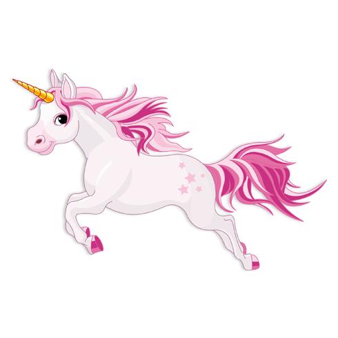 Kinderzimmer Wandtattoo: Pferd Einhorn Rosa 2