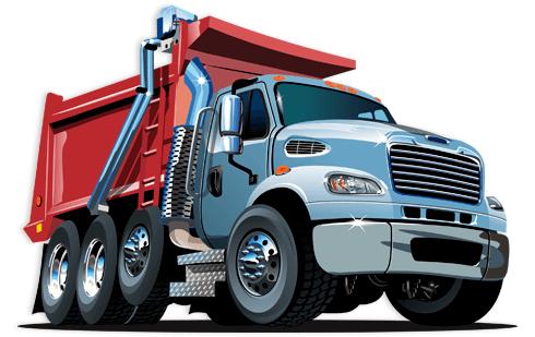 Kinderzimmer Wandtattoo: Lastwagen