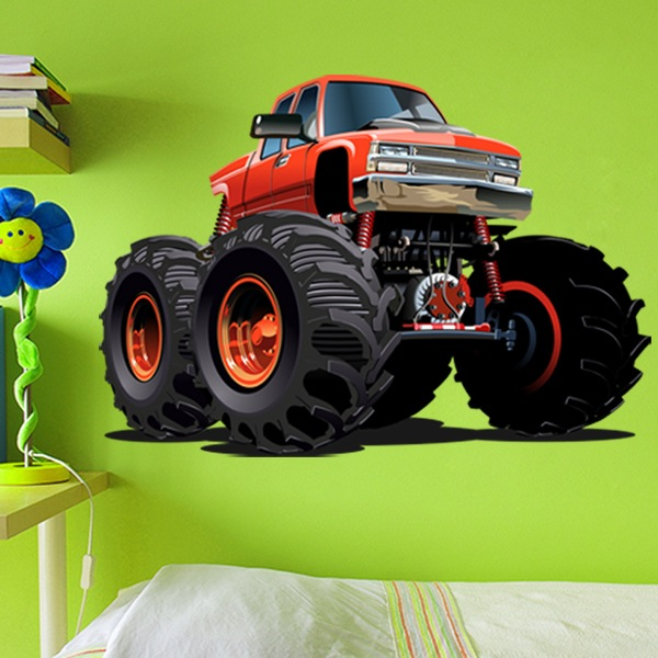 Kinderzimmer Wandtattoo: Monster Truck Ranchera orange