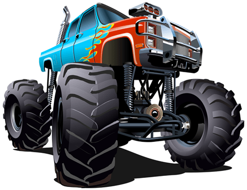 Kinderzimmer Wandtattoo: Monster Truck 18