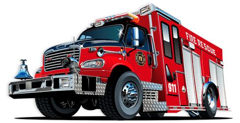 Kinderzimmer Wandtattoo: Feuerwehrauto 5
