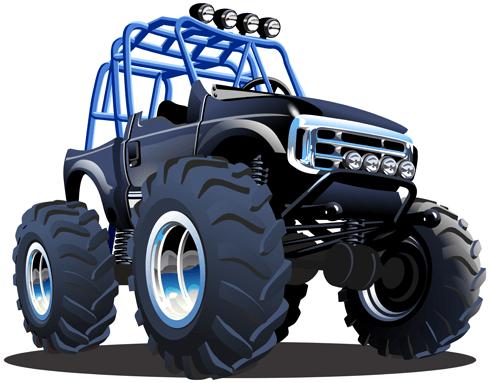 Kinderzimmer Wandtattoo: Monster Truck 23