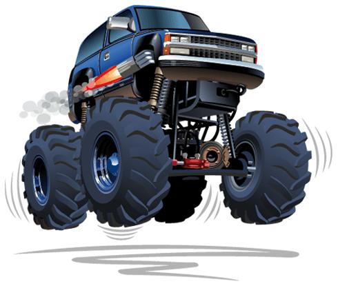 Kinderzimmer Wandtattoo: Monster Truck 4