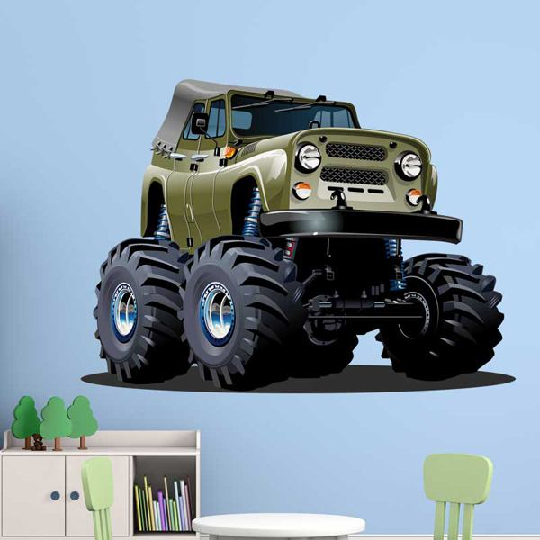 Kinderzimmer Wandtattoo: Monster Truck Jeep