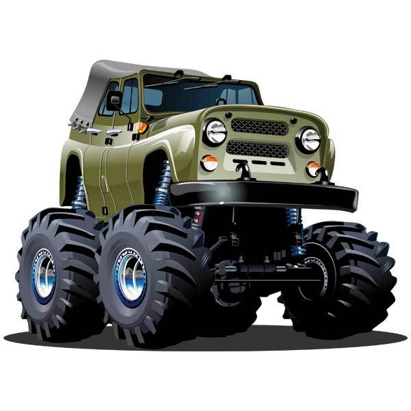 Kinderzimmer Wandtattoo: Monster Truck 10