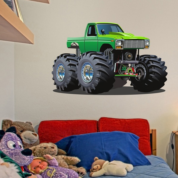 Kinderzimmer Wandtattoo: Monster Truck 12 1